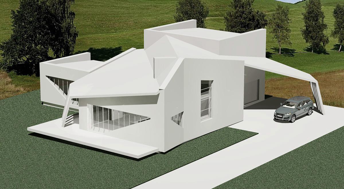 Дом будущего из бумаги