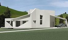 Дом из белого листа бумаги