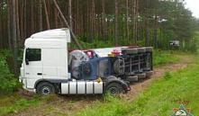 Ивьевский район: фура, перевозившая химическое вещество, перевернулась