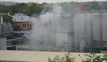 Пожар на пивзаводе «Оливария» в Минске
