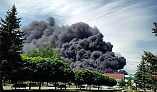 На стройке гипермаркета в Гомеле произошел пожар (фото, видео)