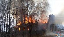 В Добрушском районе горел храм Николая Чудотворца