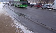 В Минске перестанут посыпать дороги солью, вместо этого будут использовать смеси из мелассы