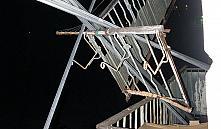 По улице Волгоградской в Минске обвалилось ограждение балкона