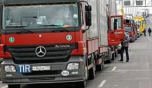 На польско-белорусской границе 25 –километровая очередь из грузовиков