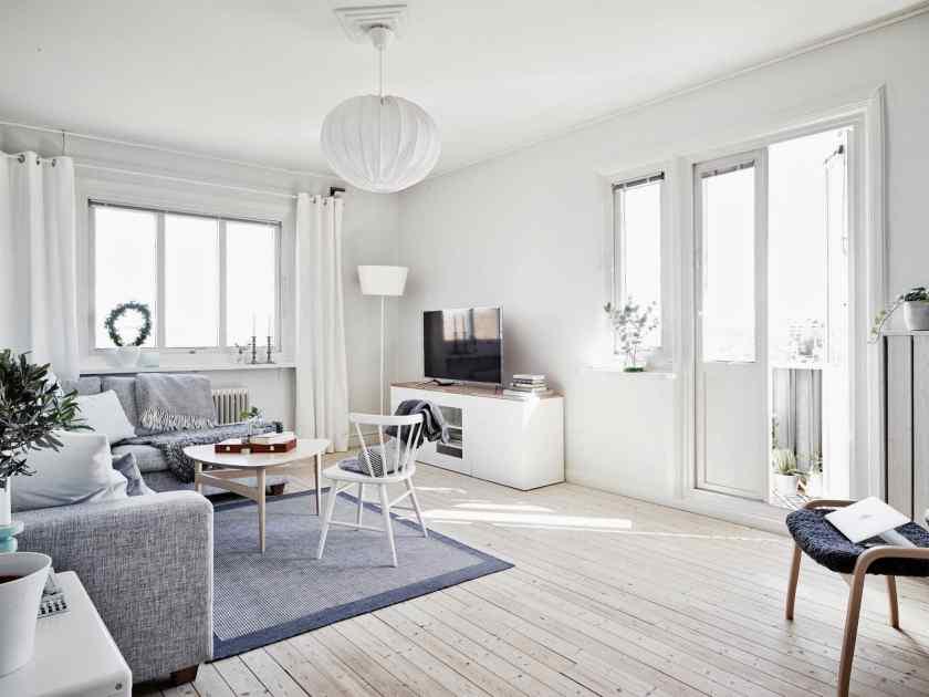 Белая квартира в скандинавском стиле