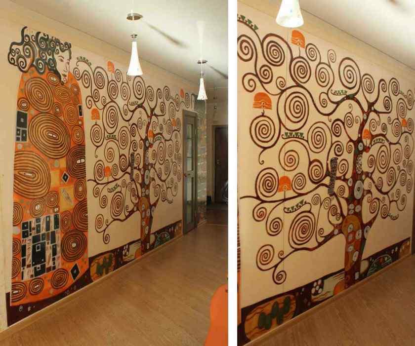 Как оформить комнату росписью?