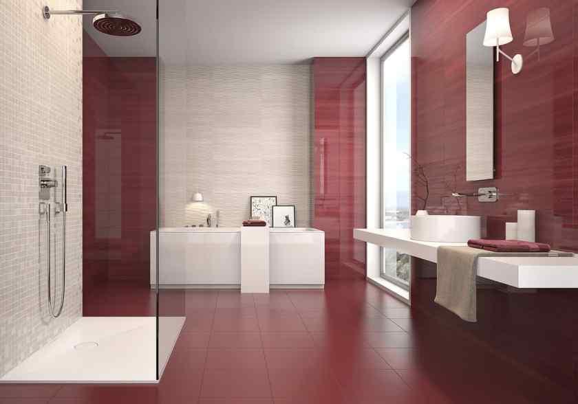 Дизайн ванной с крупной плиткой