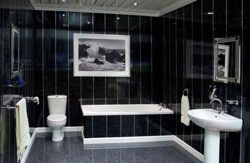 Пластиковые панели в интерьере ванной комнаты