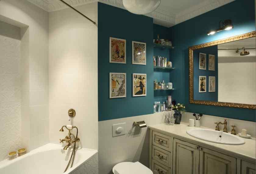 Дизайн ванной с краской