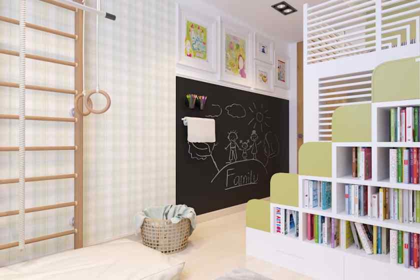 Как украсить детскую комнату грифельной доской своими руками?