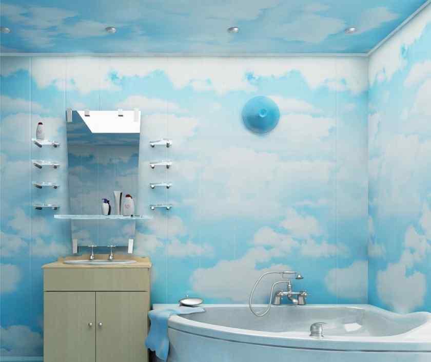 Дизайн ванной с пластиковыми панелями