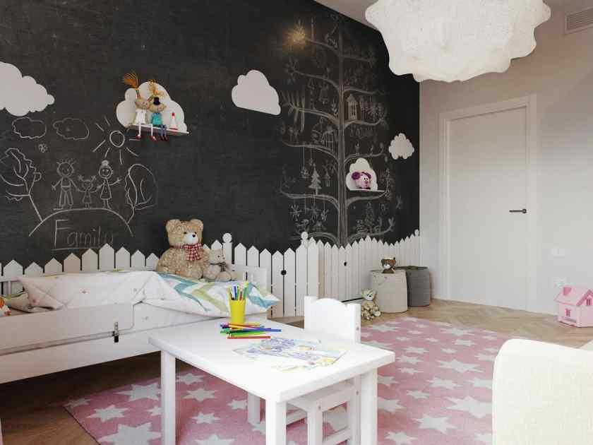 Как украсить комнату грифельной доской?