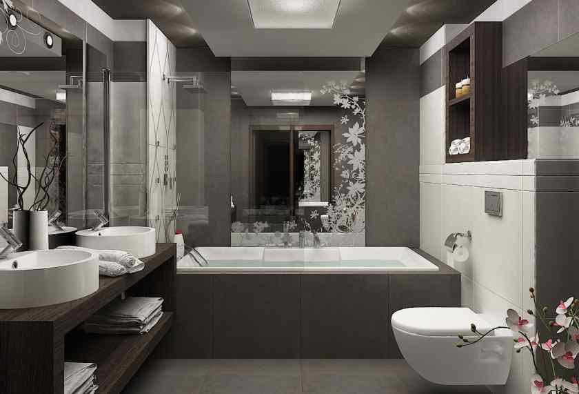 Дизайн совмещённой ванной комнаты с туалетом