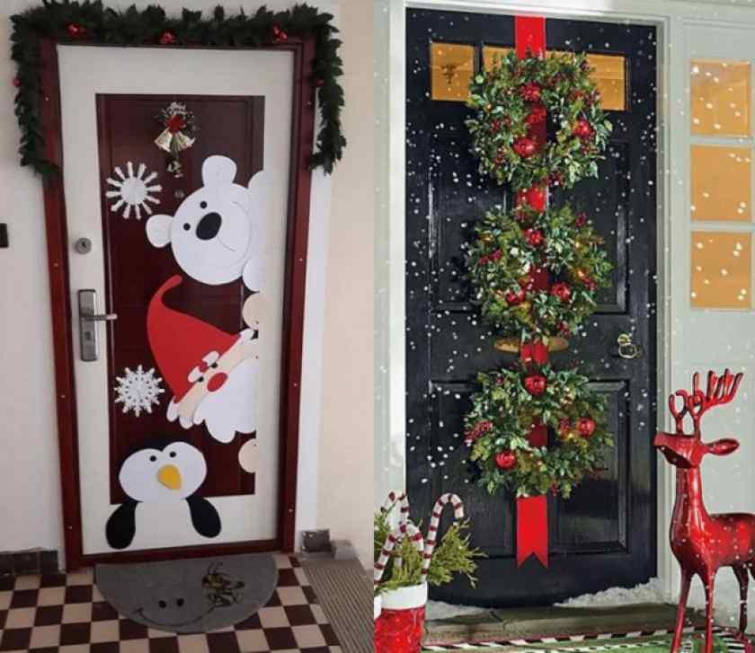 Как украсить дверь в доме на Новый год 2021?