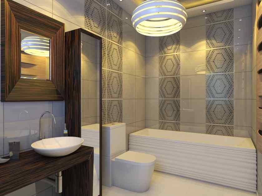 Дизайн совмещённой ванной с туалетом