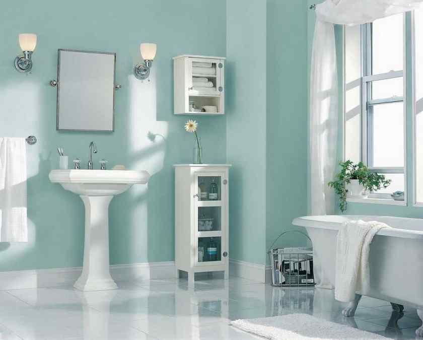 Дизайн ванной комнаты с краской