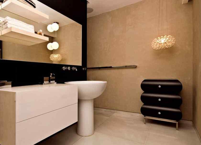 Декоративная штукатурка в отделка ванной комнаты