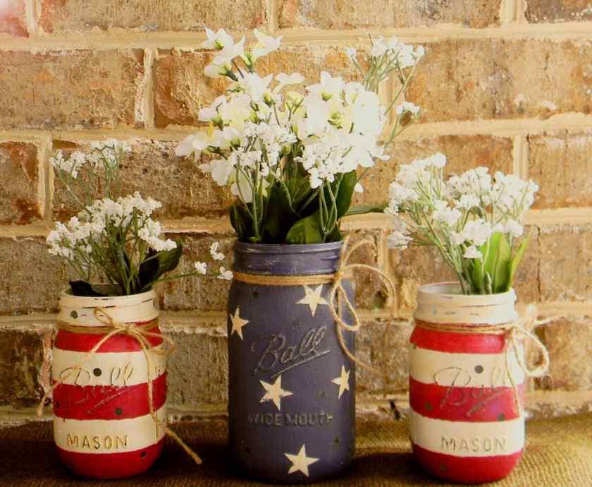 Как украсить комнату вазами-банками?