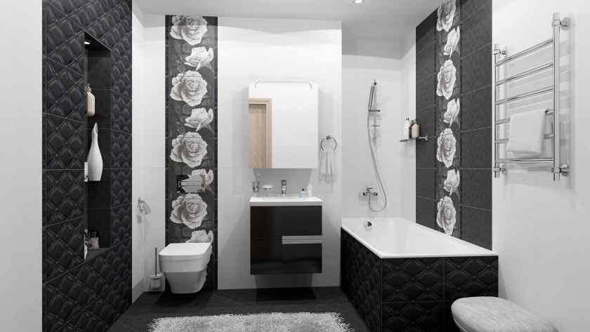 Дизайн ванной комнаты с плиткой