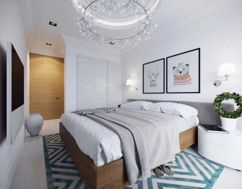 Спальня в скандинавском стиле интерьера