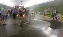 В Минске на станции метро «Купаловская» прорвало пожарный кран