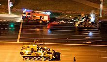 Репетиция парада в Минске: танк Т-72 загорелся, ЗРК С-400 заглох
