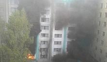 В Минске загорелось реконструируемое здание девятой городской больницы