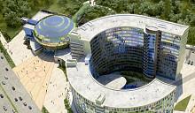 Штаб-квартира Национального олимпийского комитета Беларуси: вид спереди и вид сзади