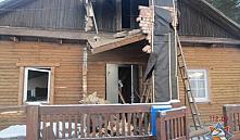 Червенский район: от взрыва газа в доме пострадал мужчина