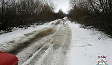 В Петриковском районе подтопило участок автодороги