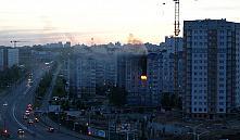 Пожар в Минске: на Гурского открытым пламенем горела квартира