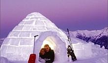 Туристам в Альпах приходится платить за ледяные номера